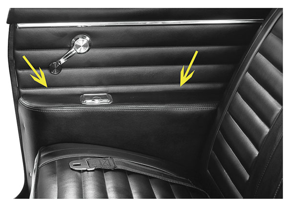 Convertible Rear Armrest Covers 1964 Cutlass 442 Gto Lemans