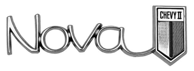 Standard Quarter Emblem, 1966-67 Nova Sprint Logo Black