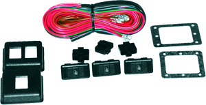 Power window rocker illuminated switch kit universal 2 for 2 door power window switch kit