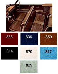 1964 Chevy Impala Convertible Non Ss Interior Package Kit