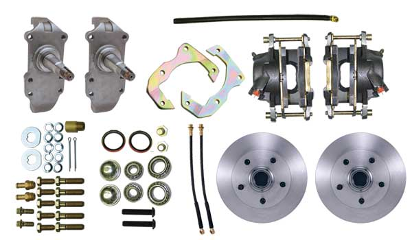 57 Ford Drop Spindles : Chevrolet full size front disc brake kit with