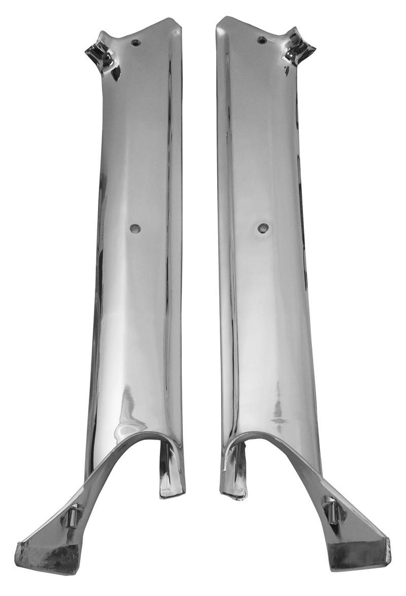 Pillar Post Molding Chrome Pair 1967 Camaro Firebird