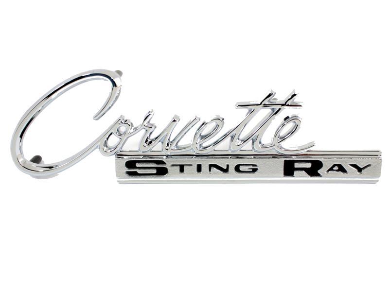 Emblem Sting Ray Us Made 1963 65 Corvette Rear