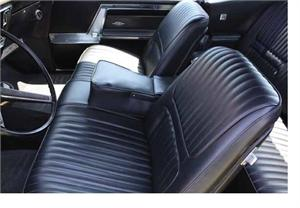 Gmc Seat Covers >> Seat Upholstery, Imported, 1967 Riviera Custom Bucket Seat Cover - Front