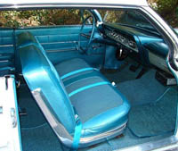 1962 chevy impala hardtop non ss interior package kit