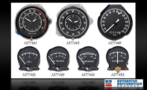 1968-70 Dodge/1970 Plymouth B-Body Dash Rallye Gauges