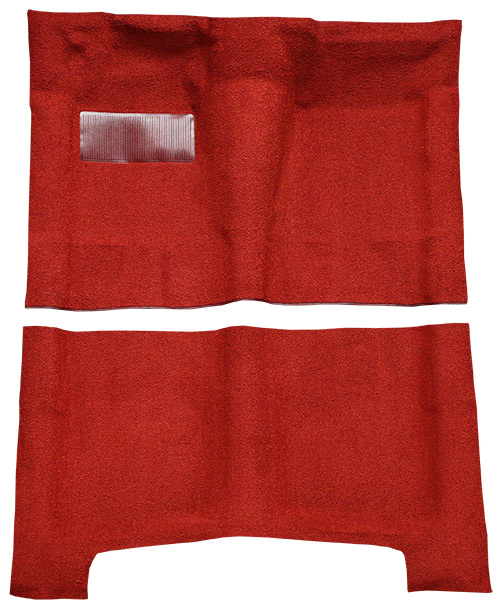 for 1965-70 Chevy Impala 4 Door 80//20 Loop 02-Red Complete Carpet Molded