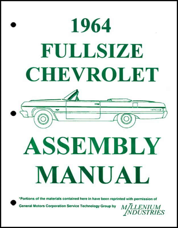 Assembly Manual w/ Factory Instruction Guide, 1964 ...