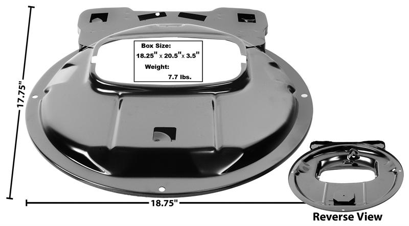 1969-70 Ford Mustang Shaker Hood Middle Plate New Dii
