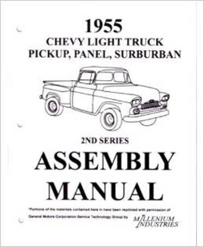 assembly manual w   factory instruction guide  1955 chevy   gmc truck