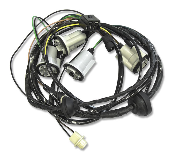Rear Side Marker Lamp Wiring Harness, 1973 Chevrolet ...