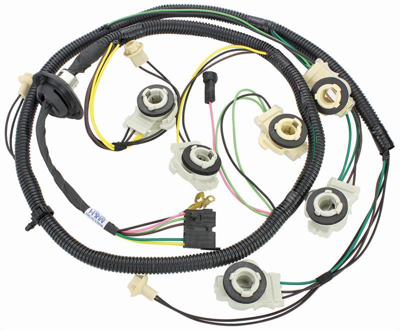 Rear Lamp Wiring Harness, 1979 Chevrolet Malibu, El Camino ... Malibu Light Wiring Harness on light transformer, light engine, light sensors, light accessories, light control module, light switches,