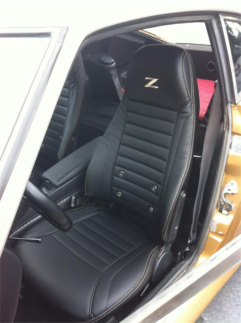 Seat Upholstery, 1974 Datsun 260Z Seat Cover - Front