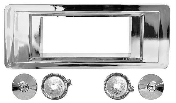 Retrosound Radio Bezel & Knob Kit - Chrome Face, 1955-56