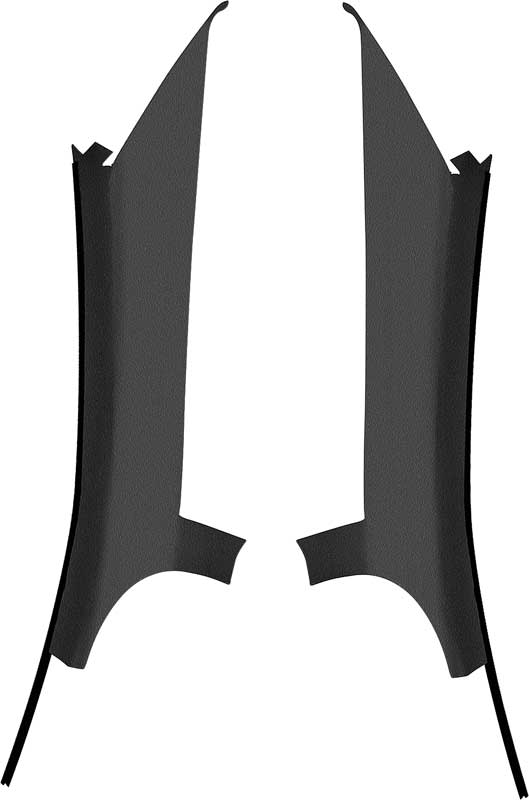 Quarter Window Rear Pillar Moldings - Pair, 1975-79 ...