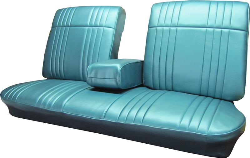 Car Bench Seat Covers >> Seat Upholstery, 1968 Bonneville Bench Seat Cover - Front