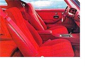 Seat Upholstery, Imported, 1977 Camaro Type LT Seat Cover - Rear