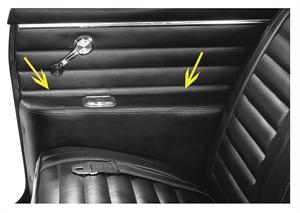 Rear Arm Rest Panel Covers Coupe Imported 1968 72
