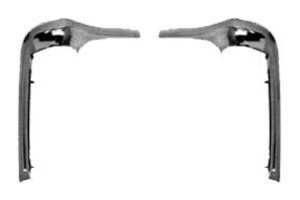 1968-72 Nova 2-Door Frame Moldings GM X-body cars 8-Pieces New Dii