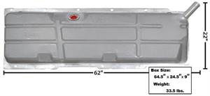 1967-72 Chevrolet//GMC Pickup Gas Tank 20 Gallon w//o EEC New