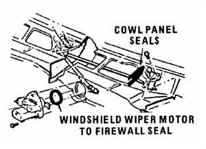 wiper motor/ firewall seal, 64-65 chevelle, 63-82 corvette, 63 cutlass & 71- 74 cadillac, etc